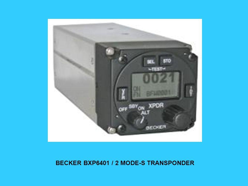BECKER BXP6401 / 2 MODE-S TRANSPONDER
