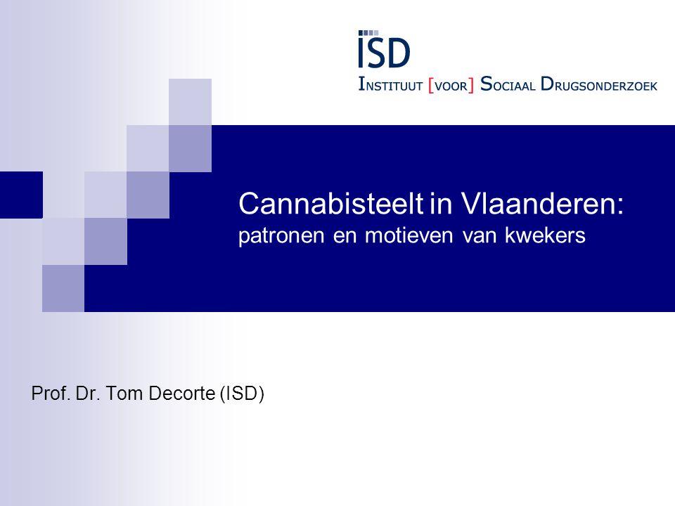 Cannabisteelt in Vlaanderen: patronen en motieven van kwekers