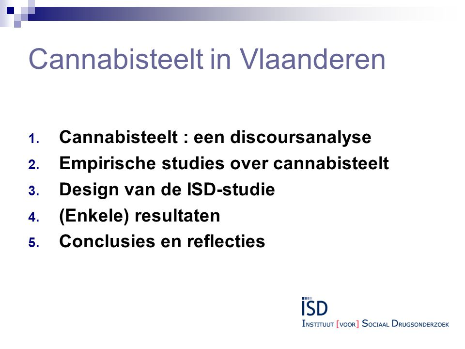 Cannabisteelt in Vlaanderen