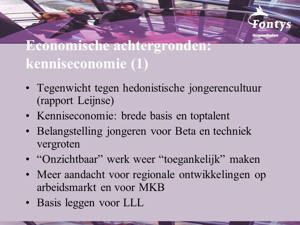 Economische achtergronden: kenniseconomie (1)