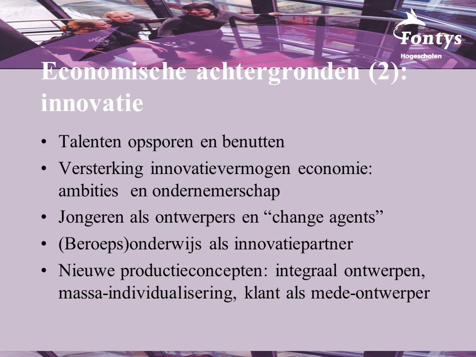 Economische achtergronden (2): innovatie