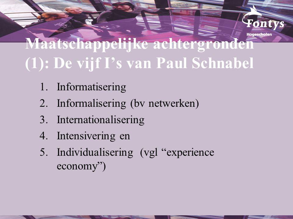 Maatschappelijke achtergronden (1): De vijf I's van Paul Schnabel