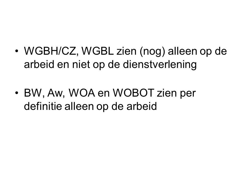 WGBH/CZ, WGBL zien (nog) alleen op de arbeid en niet op de dienstverlening