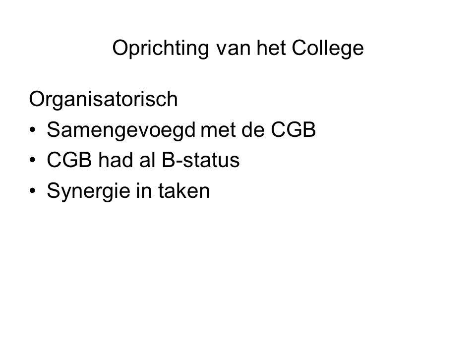 Oprichting van het College