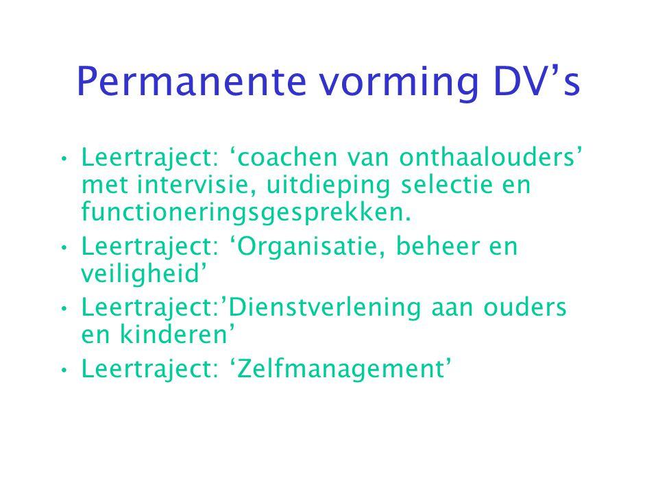 Permanente vorming DV's