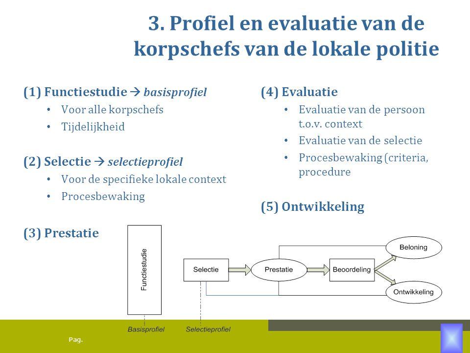 3. Profiel en evaluatie van de korpschefs van de lokale politie