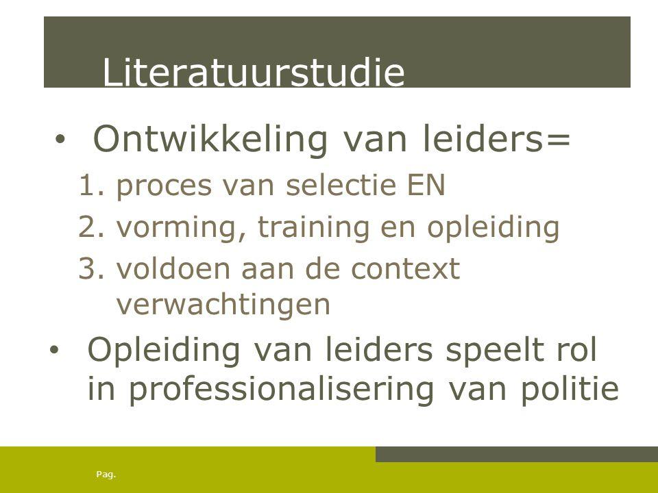 Literatuurstudie Ontwikkeling van leiders=