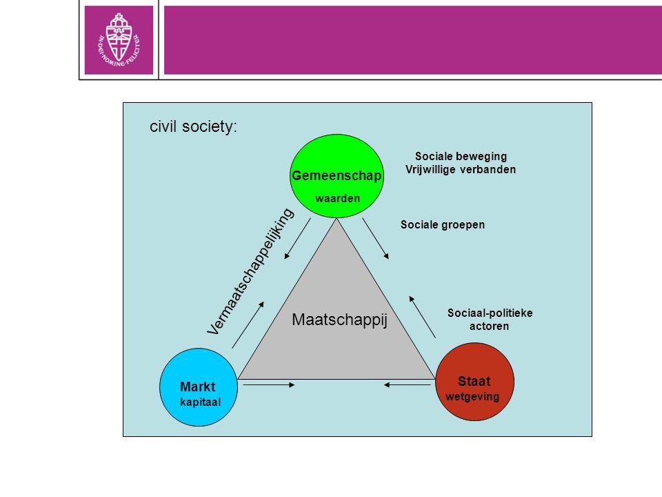 Vrijwillige verbanden Sociaal-politieke actoren