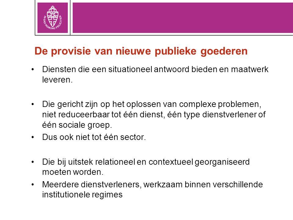 De provisie van nieuwe publieke goederen