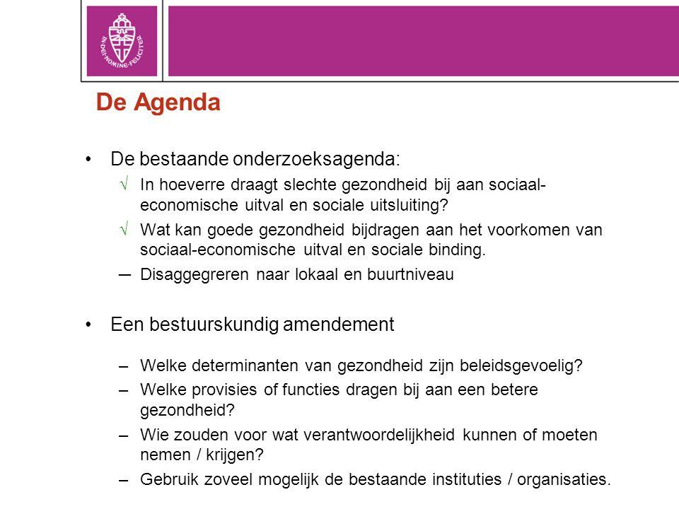 De Agenda De bestaande onderzoeksagenda: Een bestuurskundig amendement