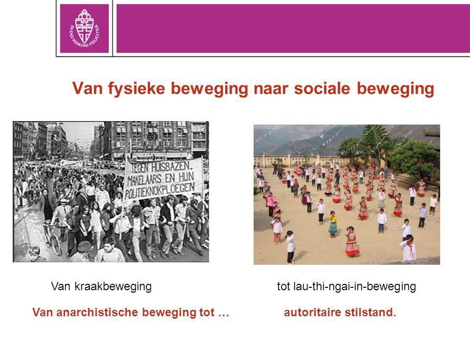 Van fysieke beweging naar sociale beweging