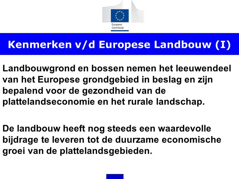 Kenmerken v/d Europese Landbouw (I)