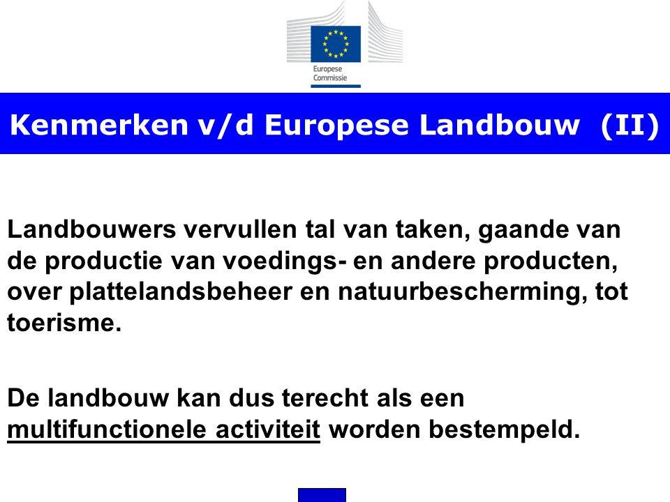 Kenmerken v/d Europese Landbouw (II)