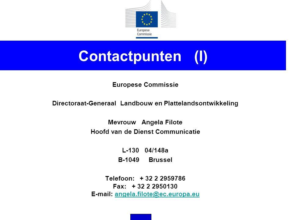Contactpunten (I) Europese Commissie