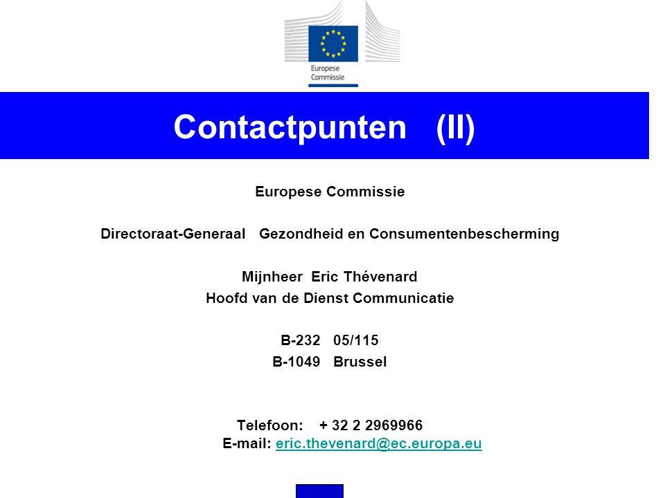 Contactpunten (II) Europese Commissie