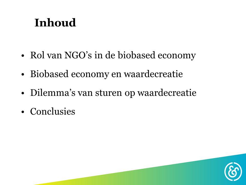 Inhoud Rol van NGO's in de biobased economy