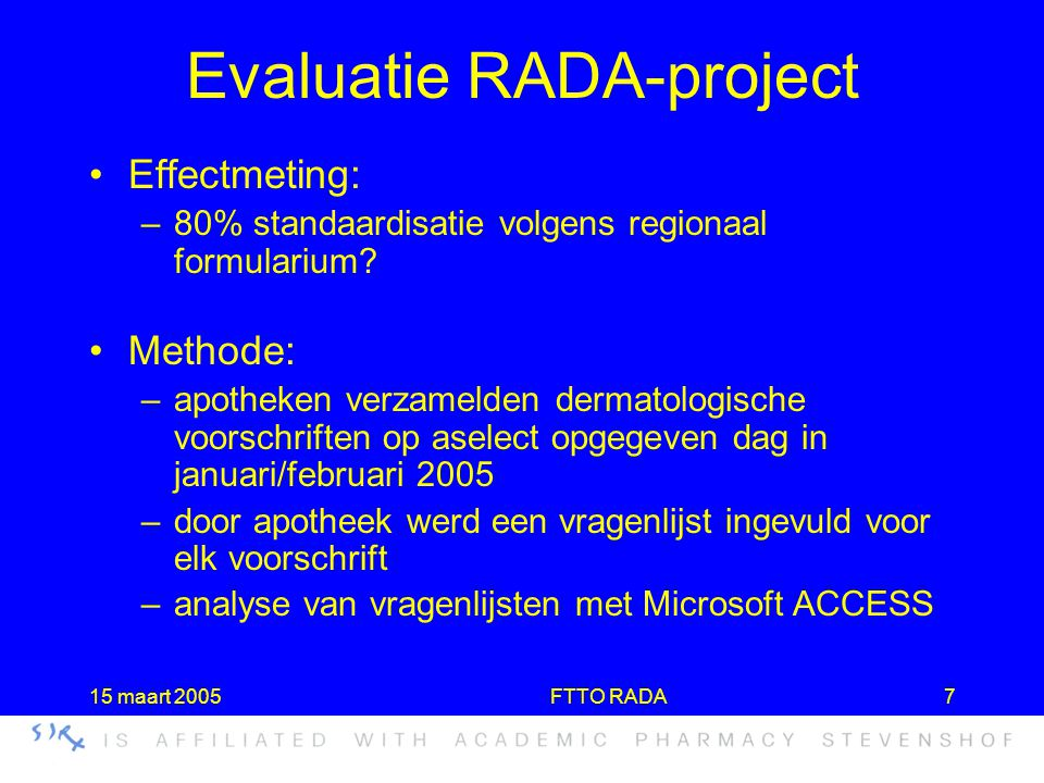 Evaluatie RADA-project
