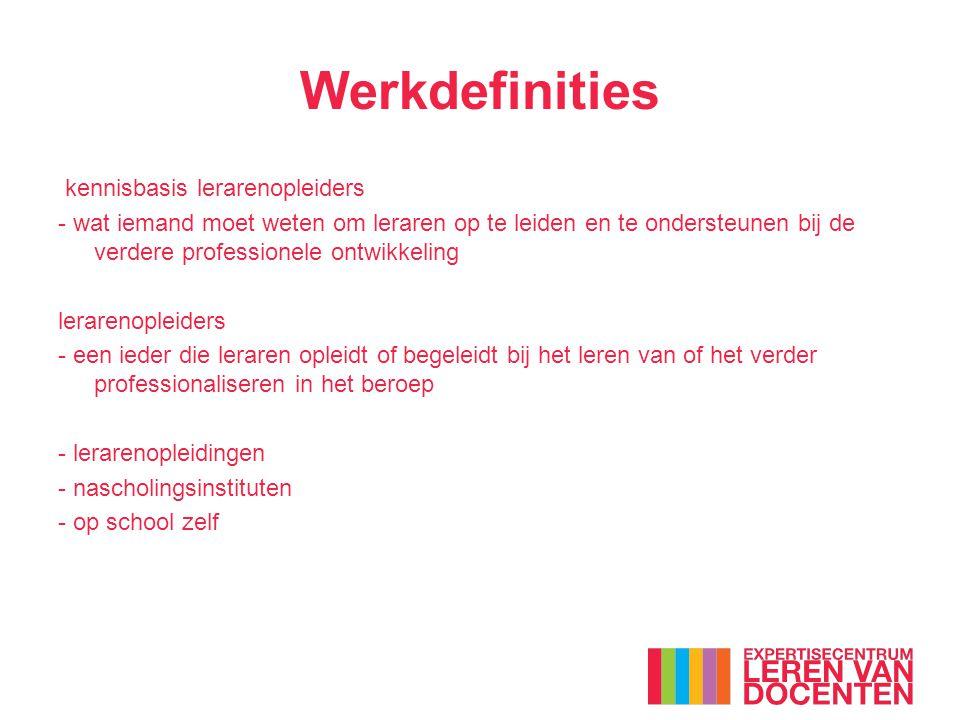 Werkdefinities