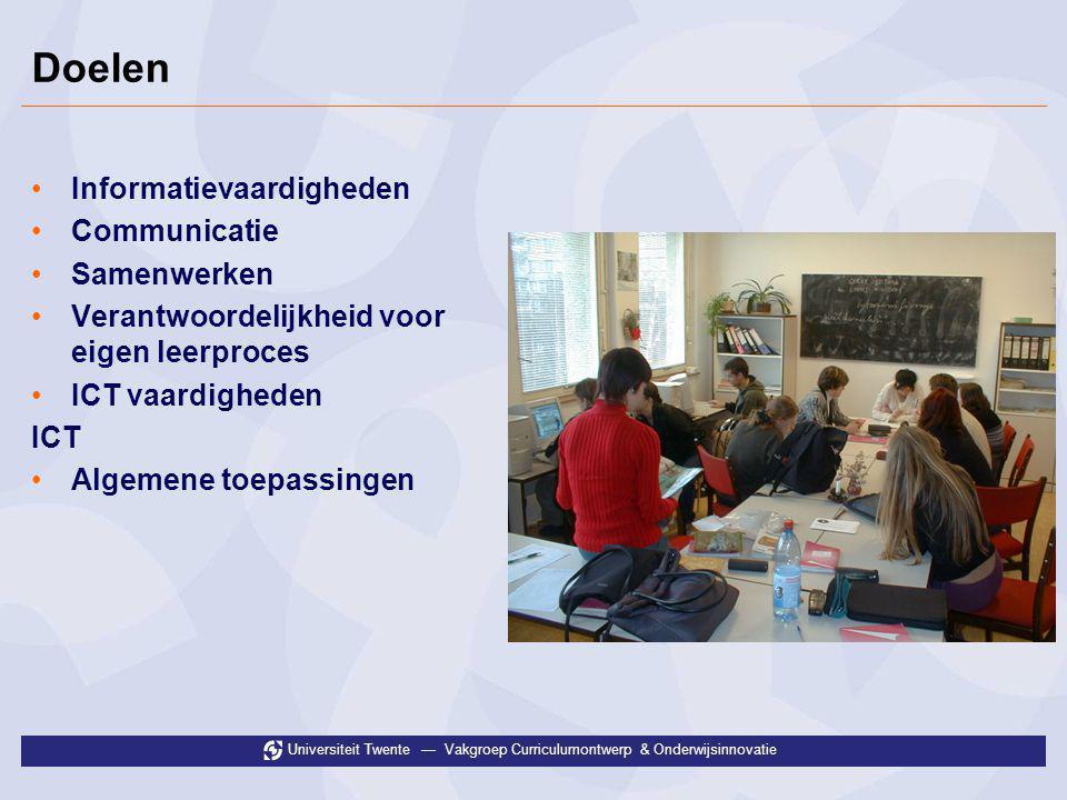 Doelen Informatievaardigheden Communicatie Samenwerken