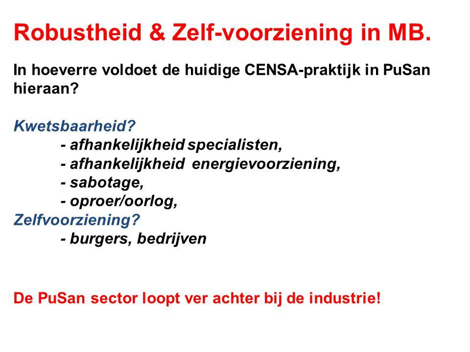 Robustheid & Zelf-voorziening in MB.