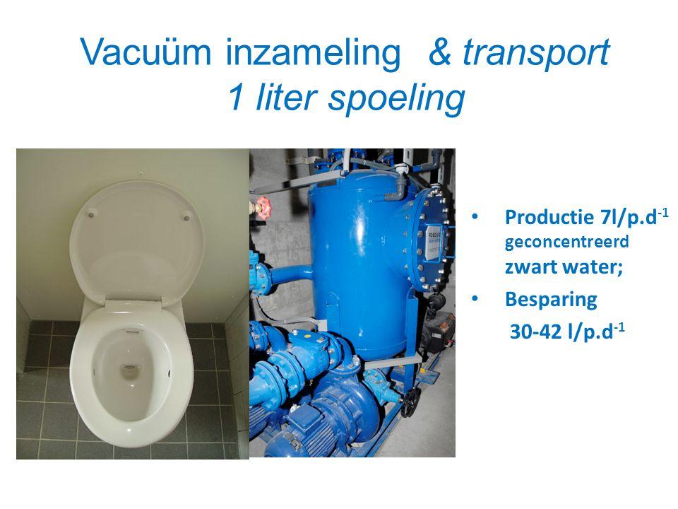 Vacuüm inzameling & transport 1 liter spoeling