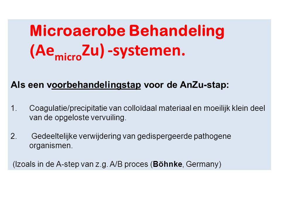 Microaerobe Behandeling (AemicroZu) -systemen.