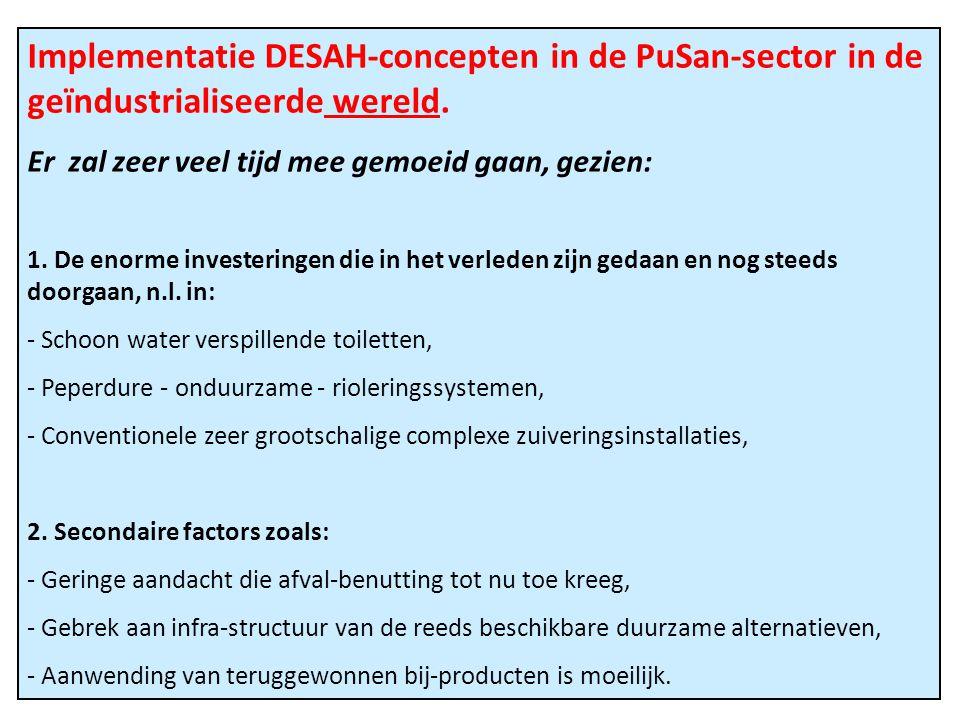 Implementatie DESAH-concepten in de PuSan-sector in de geïndustrialiseerde wereld.