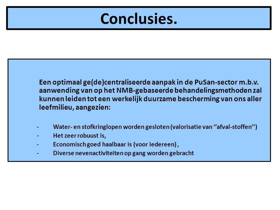 Conclusies.
