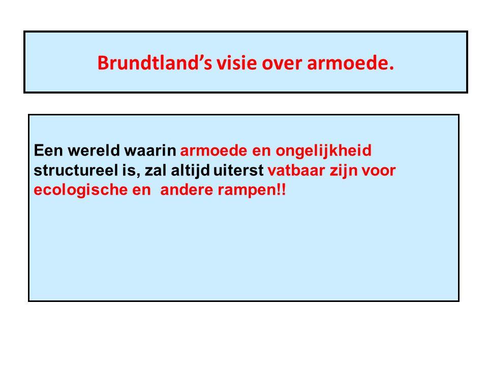 Brundtland's visie over armoede.