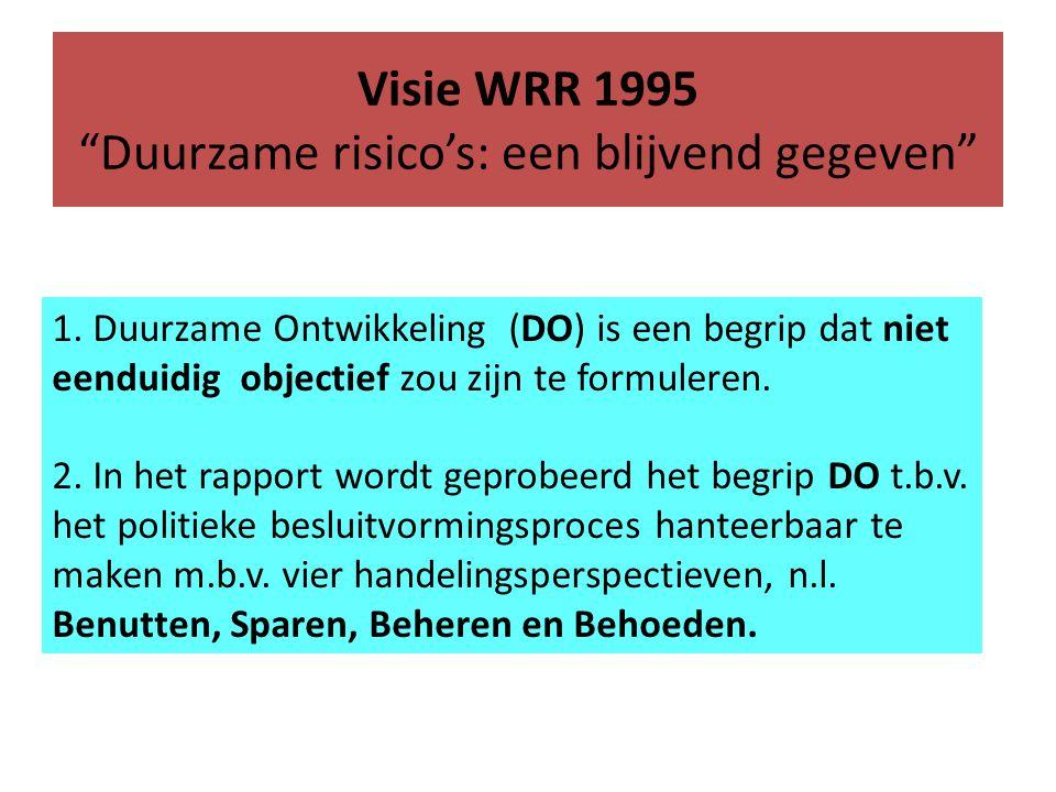 Visie WRR 1995 Duurzame risico's: een blijvend gegeven