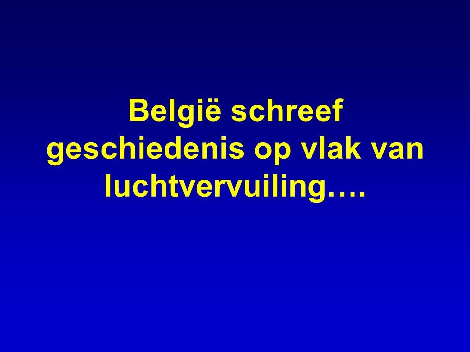 België schreef geschiedenis op vlak van luchtvervuiling….