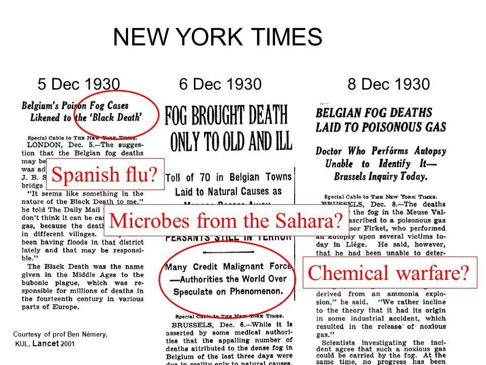 NEW YORK TIMES Spanish flu Microbes from the Sahara