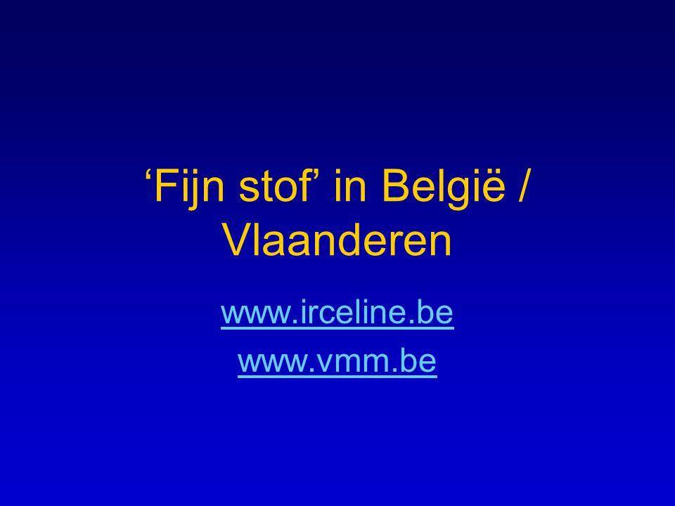 'Fijn stof' in België / Vlaanderen