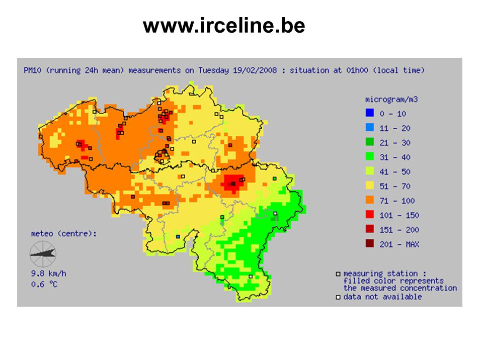 Overzicht van de fijn stof (PM10 en PM2