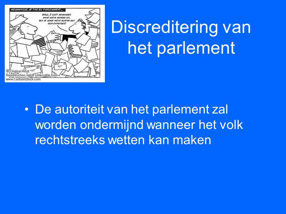 Discreditering van het parlement