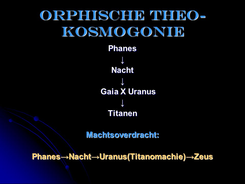 Orphische theo-kosmogonie