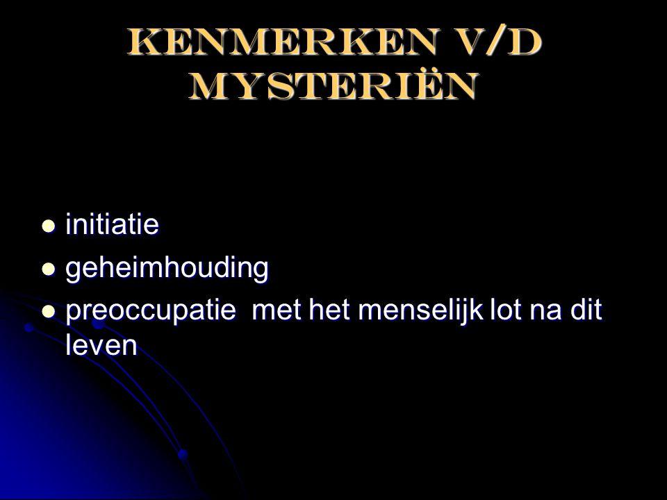 Kenmerken V/D mysteriën