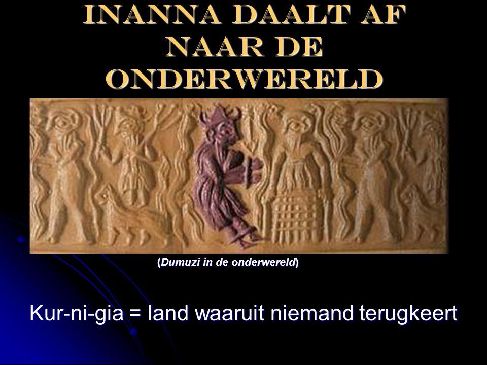 Inanna daalt af naar de onderwereld