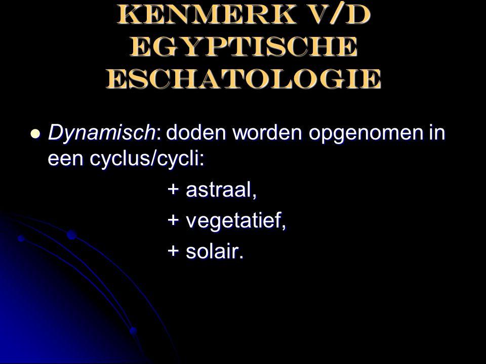 KENMERK V/D EGYPTISCHE ESCHATOLOGIE