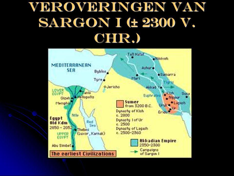 Veroveringen van Sargon I (± 2300 v. Chr.)