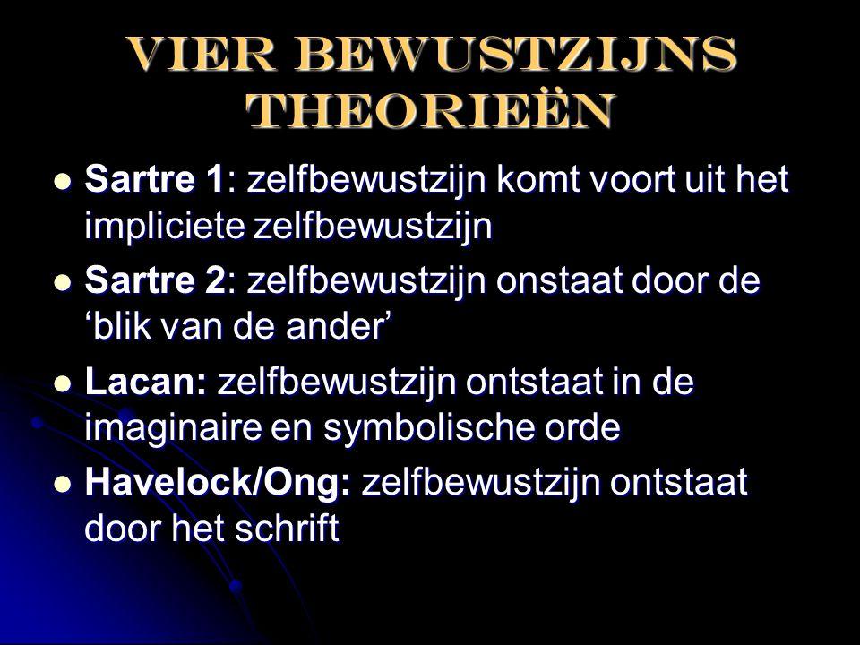 Vier bewustzijns theorieën