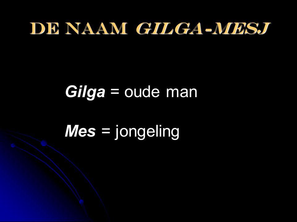 De naam gilga-mesj Gilga = oude man Mes = jongeling