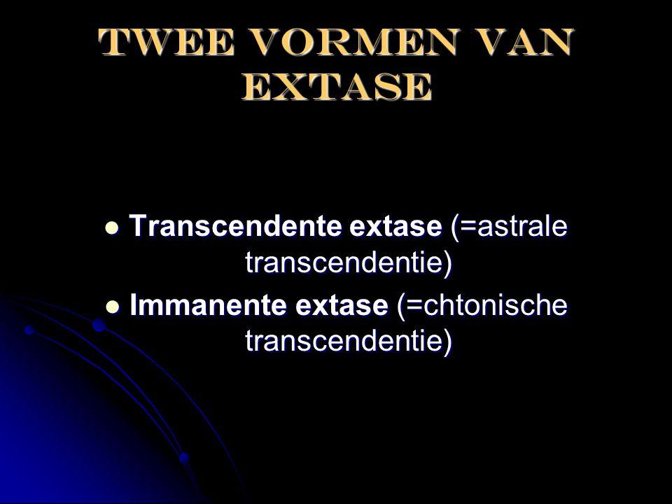 Twee vormen van extase Transcendente extase (=astrale transcendentie)
