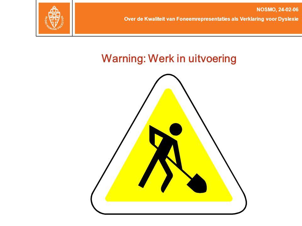 Warning: Werk in uitvoering