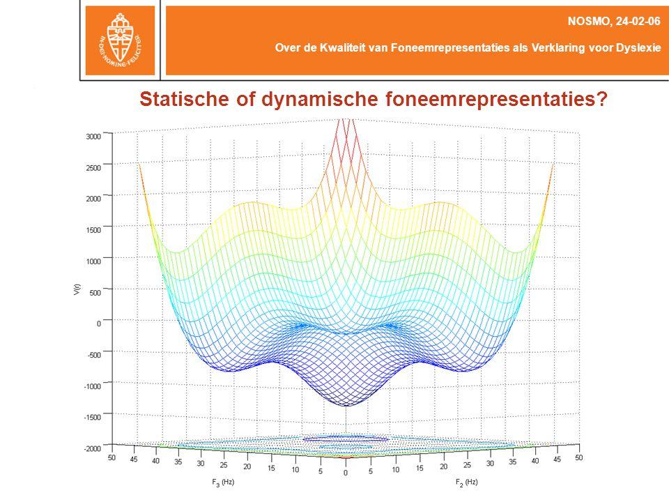 Statische of dynamische foneemrepresentaties