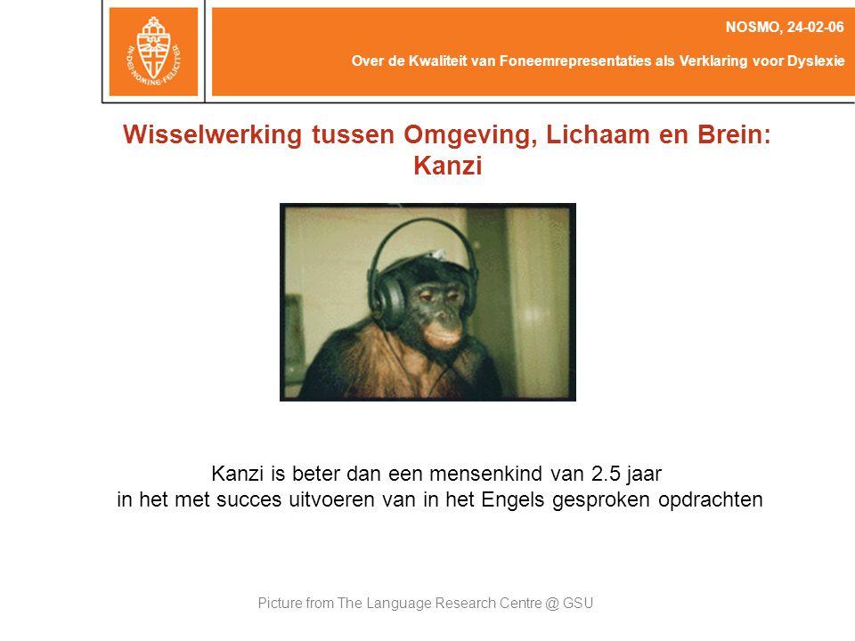 Wisselwerking tussen Omgeving, Lichaam en Brein: Kanzi