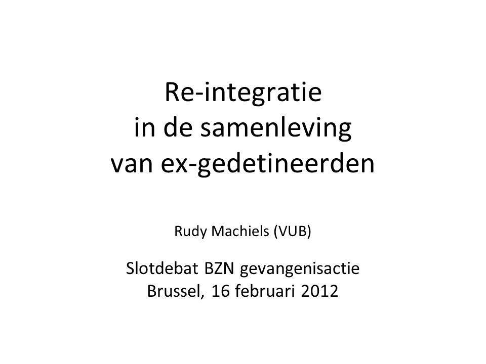 Re-integratie in de samenleving van ex-gedetineerden