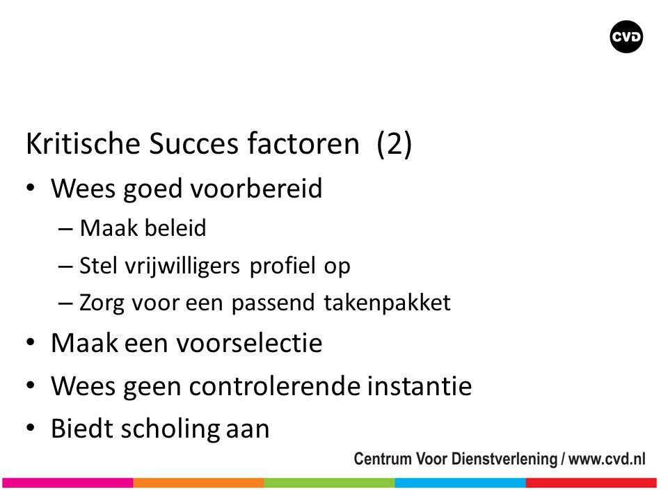 Kritische Succes factoren (2)
