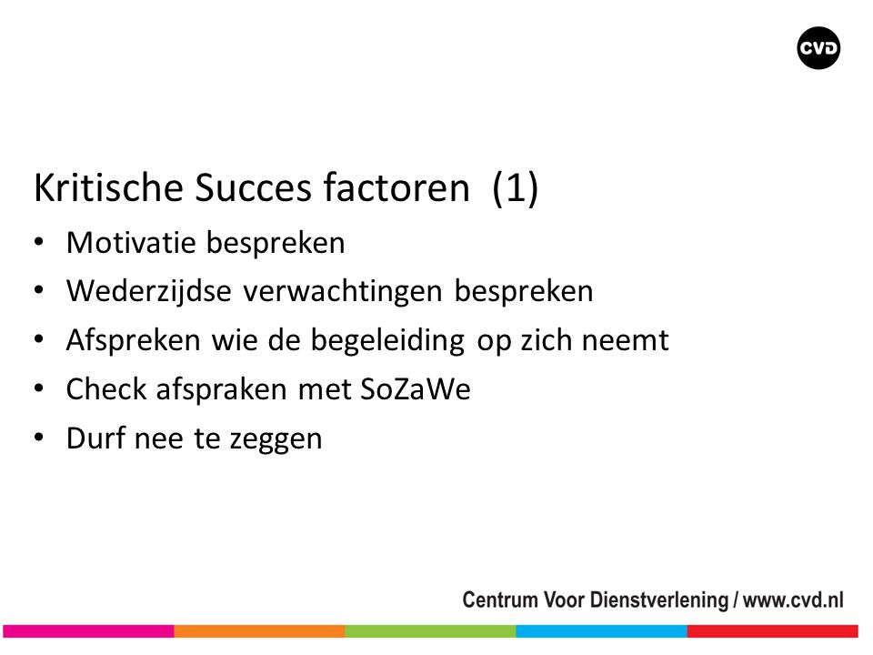 Kritische Succes factoren (1)