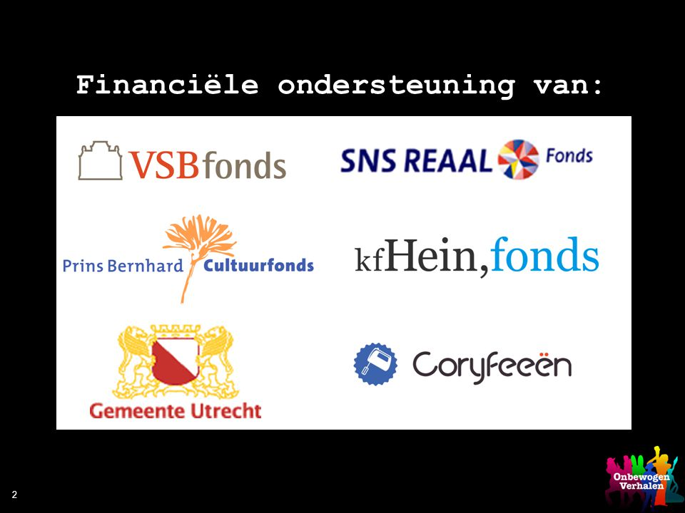 Financiële ondersteuning van: